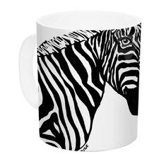 My Zebra Head by Geordanna Cordero-Fields 11 oz. White Ceramic Coffee Mug