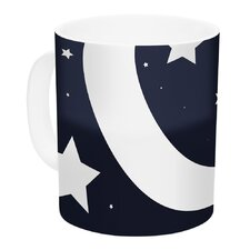 Moon & Stars by KESS Original 11 oz. White Ceramic Coffee Mug