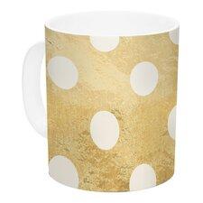 Scattered White by KESS Original 11 oz. Metallic Ceramic Coffee Mug