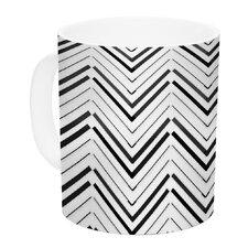 Distinct by CarolLynn Tice 11 oz. White Ceramic Coffee Mug