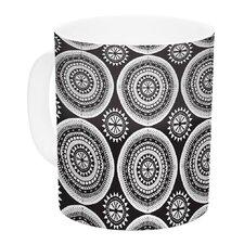 Circles by Nandita Singh 11 oz. White Ceramic Coffee Mug