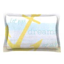 Let Your Dreams Set Sail by Alison Coxon Cotton Pillow Sham