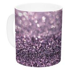 Lavender Sparkle by Debbra Obertanec 11 oz. Glitter Ceramic Coffee Mug