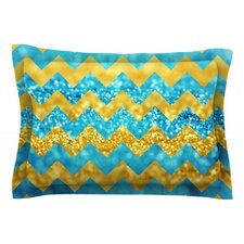 Blueberry Twist by Beth Engel Cotton Pillow Sham, Chevron