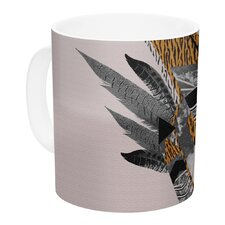 Indian Feather by Vasare Nar 11 oz. Ceramic Coffee Mug