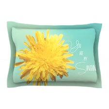 You are My Sunshine by Beth Engel Flower Cotton Pillow Sham