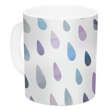 Opal Drops Mist by Daisy Beatrice 11 oz. White Ceramic Coffee Mug