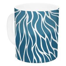 Swirls by NL Designs 11 oz. Ceramic Coffee Mug