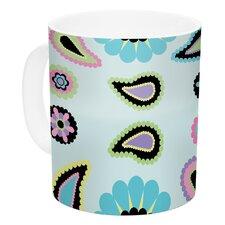 Paisley Candy by Nina May 11 oz. Paisley Flower Ceramic Coffee Mug