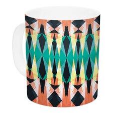 Triangle Visions by Akwaflorell 11 oz. Ceramic Coffee Mug