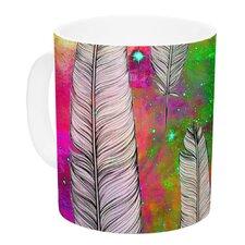 Feather by Suzanne Carter 11 oz. Rainbow Space Ceramic Coffee Mug