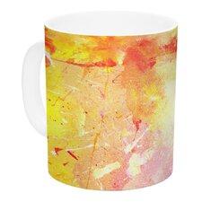 Splash by CarolLynn Tice 11 oz. Yellow Ceramic Coffee Mug
