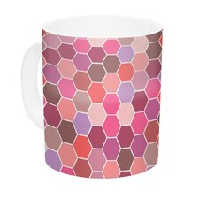 Blush by Nandita Singh 11 oz. Tiled Ceramic Coffee Mug