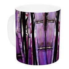 Bamboo Bunny by Theresa Giolzetti 11 oz. Purple Ceramic Coffee Mug