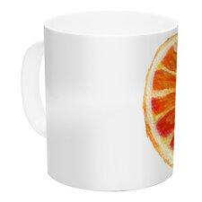 Grapefruit by Theresa Giolzetti 11 oz. White Ceramic Coffee Mug