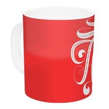 Amor by Roberlan 11 oz. White Ceramic Coffee Mug