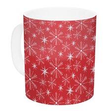 Snowflake Berry by Julie Hamilton 11 oz. Holiday Ceramic Coffee Mug