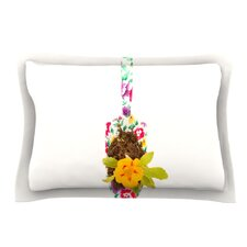 The Gardener by Ingrid Beddoes Beige Cotton Pillow Sham