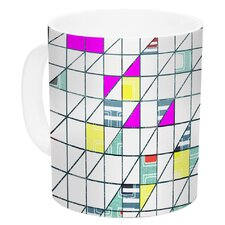 Squares by Michelle Drew 11 oz. Abstract Geometry Ceramic Coffee Mug