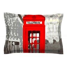 London by Oriana Cordero Red Featherweight Pillow Sham