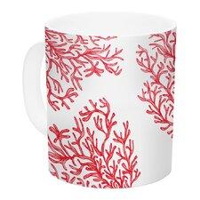 Coral by Anchobee 11 oz. White Ceramic Coffee Mug