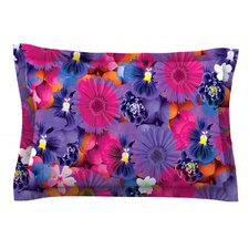 Find The Tiger by Akwaflorell Cotton Pillow Sham, Purple