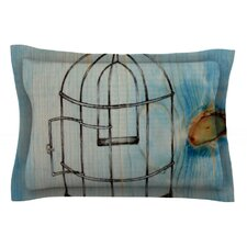 Bird Cage by Brit y Guarino Cotton Pillow Sham