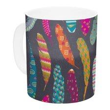 Flight by Skye Zambrana 11 oz. Pink Ceramic Coffee Mug