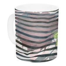 Peony N White by S. Seema Z 11 oz. Ceramic Coffee Mug