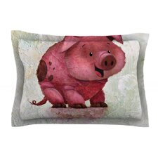 This Little Piggy by Rachel Kokko Cotton Pillow Sham