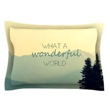 What A Wonderful World by Robin Dickinson Tan Cotton Pillow Sham