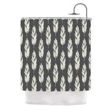 Feathers by Amanda Lane Dark Shower Curtain