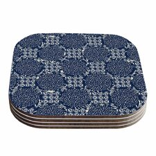 Indigo Lattice Coaster (Set of 4)