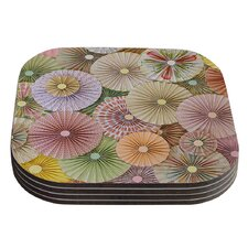 Spring Pastels Abstract Coaster (Set of 4)