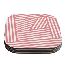 Rose Stripes Coaster (Set of 4)