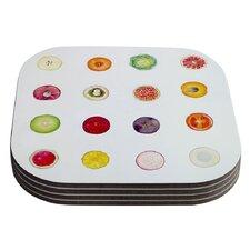 Fruit Food Coaster (Set of 4)