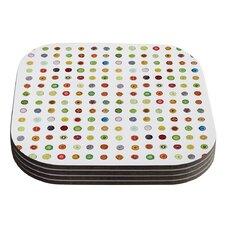 Fruit Pattern Food Painting Coaster (Set of 4)