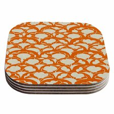 Art Deco in Orange Coaster (Set of 4)