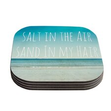 Salt in the Air Typography Coaster (Set of 4)