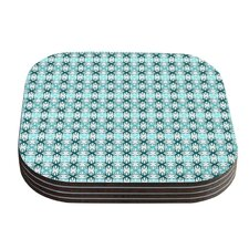 Blue Motifs Aqua Geometric Coaster (Set of 4)