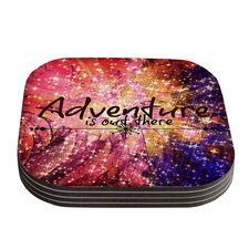 Adventure Is Out There Typography Coaster (Set of 4)