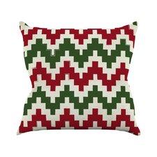 Christmas Gram Chevron Throw Pillow