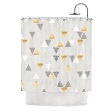 Triangle Love by Nick Atkinson Shower Curtain