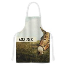 Don't Assume by Catherine McDonald Artistic Apron