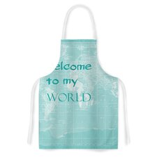 Welcome to my World by Catherine Holcombe Artistic Apron