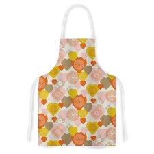 Retro Hearts Design Fabric Artistic Apron