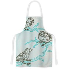 Birds in Trees Artistic Apron
