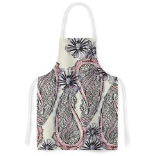 Inky Paisley Bloom Artistic Apron