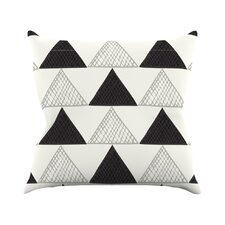 Textured Triangles Abstract Throw Pillow