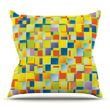 Multi Color Blocking by Dawid Roc Throw Pillow